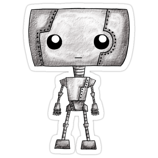 A Tiny Robot T-Shirt by ShayLeiArt