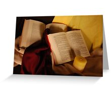 candle light books Greeting Card