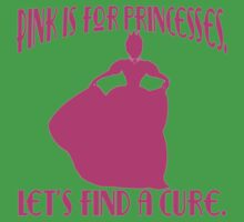 Pink is for Princesses Breast Cancer Awareness Kids Tee
