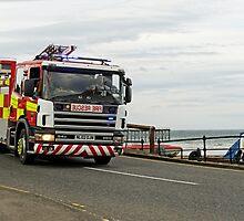 Fire Appliance On A Call, Saltburn by Rod Johnson