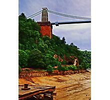 Clifton suspension bridge & the old Jetty Photographic Print