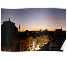 Rooftop Sunset - overlooking Vienna's skyline Poster