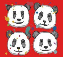 splatter pop panda cookies One Piece - Short Sleeve