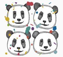 splatter pop panda cookies Kids Tee