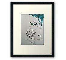 Minimalistic Grimmjow Jeagerjaques Framed Print