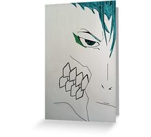 Minimalistic Grimmjow Jeagerjaques Greeting Card