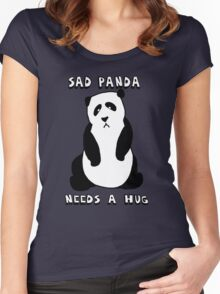 Sad Panda Needs A Hug Women's Fitted Scoop T-Shirt
