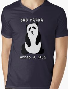 Sad Panda Needs A Hug Mens V-Neck T-Shirt