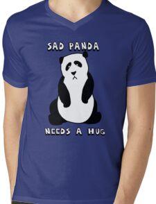 Sad Panda Needs A Hug Mens V-Neck T-Shirt