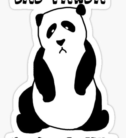 Sad Panda Needs A Hug Sticker