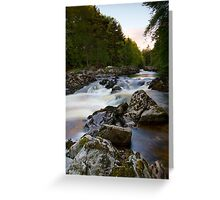 The Falls of Feugh at Banchory Aberdeenshire Greeting Card