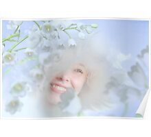 Fairies Flowers Poster