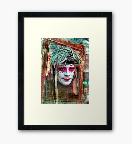 Shady Lady Framed Print