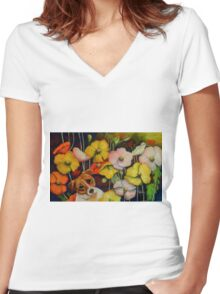 """""""What Hole"""" Women's Fitted V-Neck T-Shirt"""