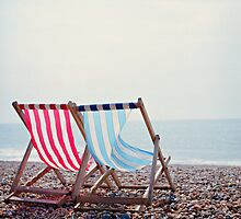 Deck Chairs - Brighton by Steve Churchill