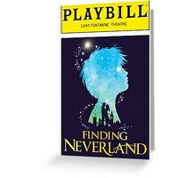 Finding Neverland Playbill Greeting Card