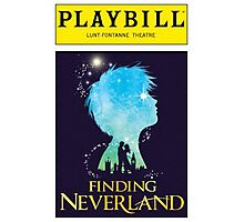 Finding Neverland Playbill Photographic Print