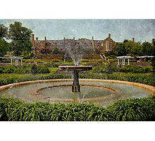 Masonic Lodge & Formal Gardens, Masonic Village Elizabethtown, PA Photographic Print