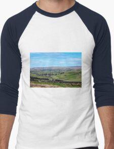 England - Yorkshire Dales Men's Baseball ¾ T-Shirt
