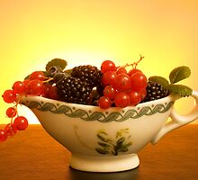 Porcelain Pitcher With Berries by savage1