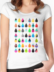 Colorful Rain Women's Fitted Scoop T-Shirt
