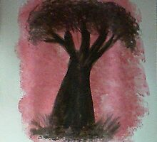Tree Study of Africa Series #2, watercolor by Anna  Lewis