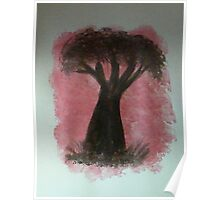 Tree Study of Africa Series #2, watercolor Poster