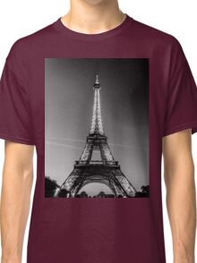 Eiffel Tower and sunset (Black and White) Classic T-Shirt