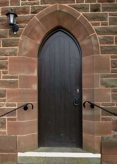 Vestry Door Upton Parish Church, Chester UK by AnnDixon