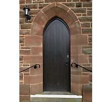 Vestry Door Upton Parish Church, Chester UK Photographic Print