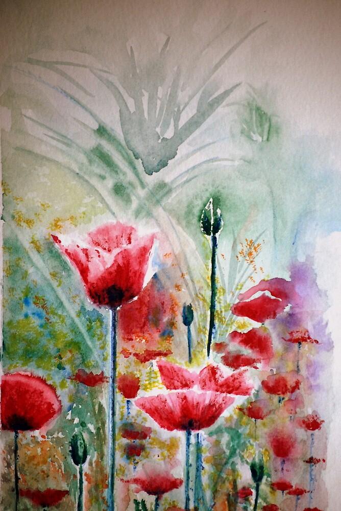 Poppy field by Lynn Hughes