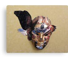Winged Bird Mask Canvas Print