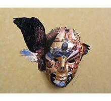 Winged Bird Mask Photographic Print