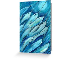Narwhal Sea. Narwhals by Sheridon Rayment Greeting Card