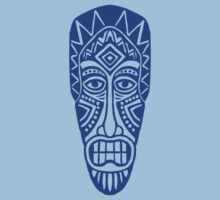 Tiki Mask - Blue by Artberry