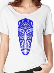 Tiki Mask - Blue Women's Relaxed Fit T-Shirt