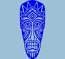 Tiki Mask - Blue Unisex T-Shirt