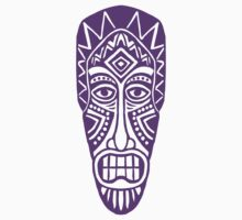 Tiki Mask - Purple by Artberry