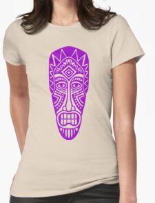 Tiki Mask - Purple Womens Fitted T-Shirt