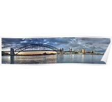 The Broad View - Sydney Harbour Bridge & Skyline - Sydney - Australia - The HDR Experience Poster