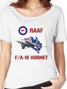 F/A-18 Hornet of the RAAF Women's Relaxed Fit T-Shirt