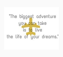The biggest adventure you can take is to live the life of your dreams by IdeasForArtists