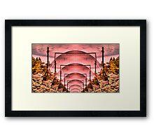 Martian Colony Framed Print