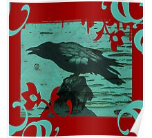 Gothic Raven Poster