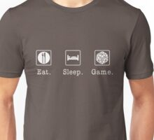 Eat. Sleep. Game. - D20 Unisex T-Shirt