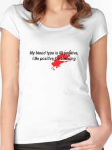 blood type Women's Fitted Scoop T-Shirt