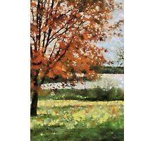 Lake view fall trees Photographic Print