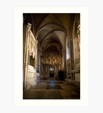 Gothic tomb Art Print