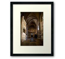 Gothic tomb Framed Print
