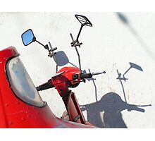 Red Vespa Photographic Print